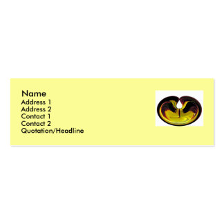 Pansy Profile Card Business Card
