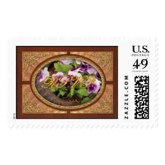 Pansy - Purple Pansies Postage Stamp