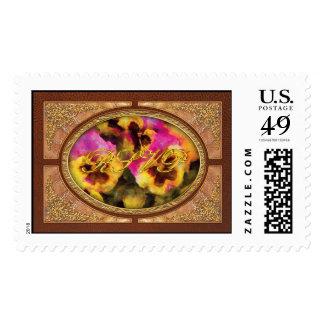 Pansy - Purple & Yellow Pansies Stamp