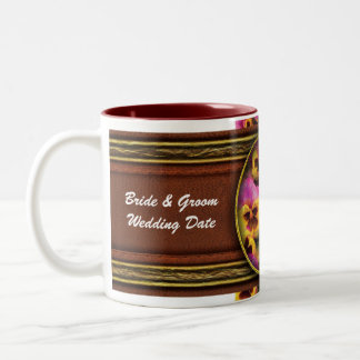 Pansy - Purple & Yellow Pansies Two-Tone Coffee Mug