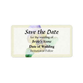 Pansy Saluting Save the Date Label