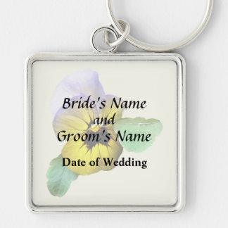 Pansy Saluting Wedding Supplies Keychain