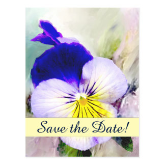 Pansy Save the Date Announcement Postcard