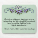 Pansy Scrolls Mother's Day Mouse Mats