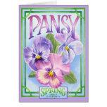 Pansy Seeds - Blank Card