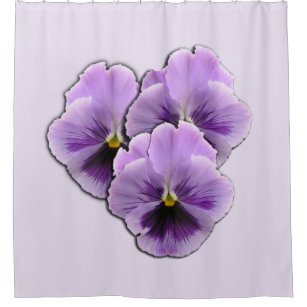 Pansy Shower Curtains