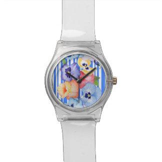 Pansy Stripe Wristwatch