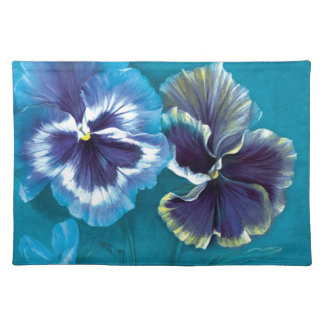 Pansy study fine art canvas placemat