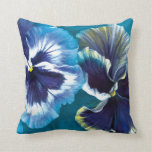 Pansy study fine art floral square pillow