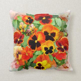 Pansy Sunset Pillows