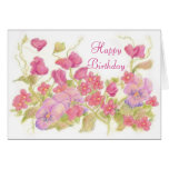 Pansy Sweet Peas Garden Greeting Cards