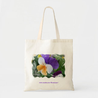 Pansy Swirl Tote Budget Tote Bag