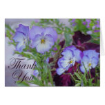 Pansy Thank You Cards