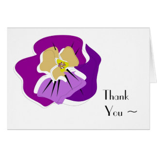 pansy THANK YOU note card_purples Card