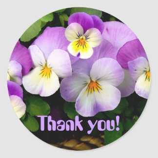 """PANSY  """"Thank You!"""" Stickers"""