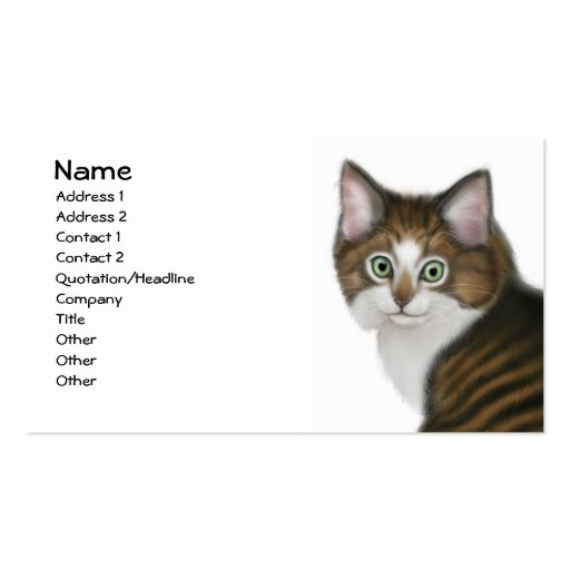 Pansy the Kitten Business Card