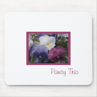 Pansy Trio Mouse Pads