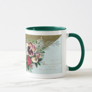 Pansy Tussie-Mussie and Dryden Verse Mug