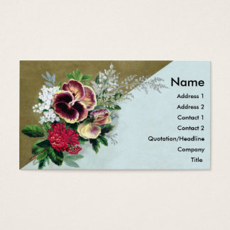 Pansy Tussie Mussie Business Card