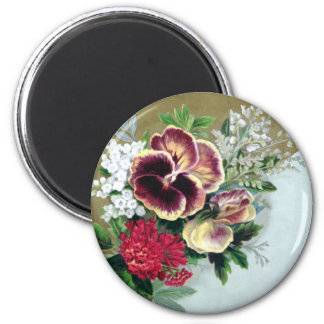 Pansy Tussie-Mussie Fridge Magnets