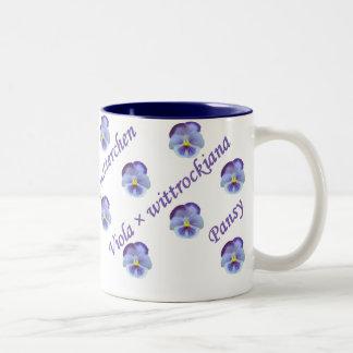 Pansy Two-Tone Mug