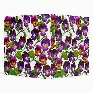 Pansy & Viola Flowers Avery Binder