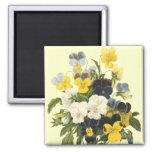 Pansy Violets Botanical Art Refrigerator Magnet