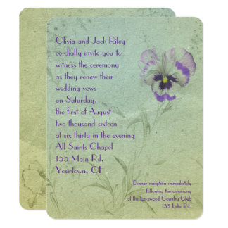 Pansy Wedding Vow Renewal Card