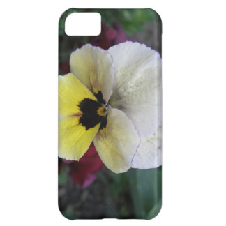 Pansy White and Yellow iPhone 5 Case