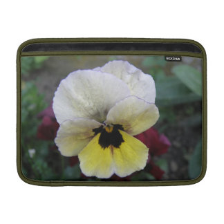 Pansy White and Yellow MacBook Air Sleeve