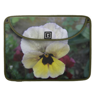 Pansy White and Yellow MacBook Pro Sleeve