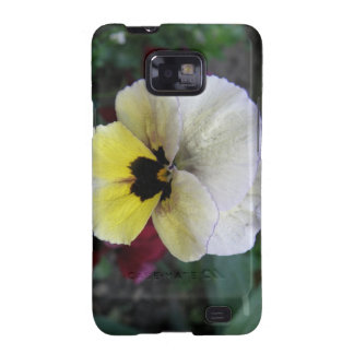 Pansy White and Yellow Samsung Galaxy S Samsung Galaxy Cases