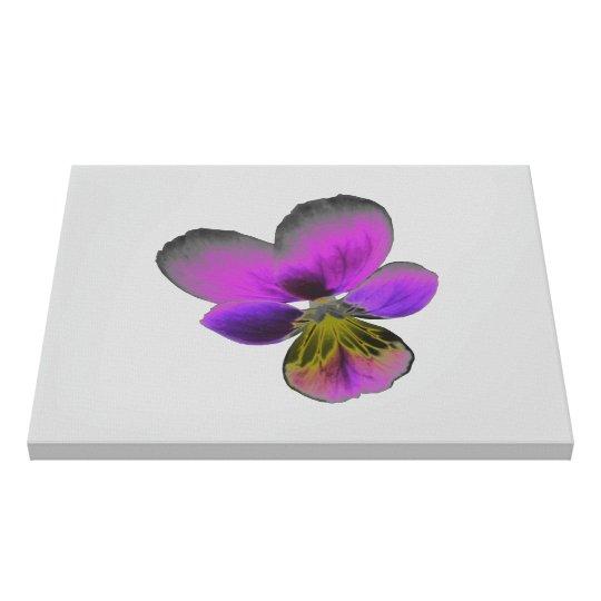 Pansy Wild Dark Purple Canvas Print