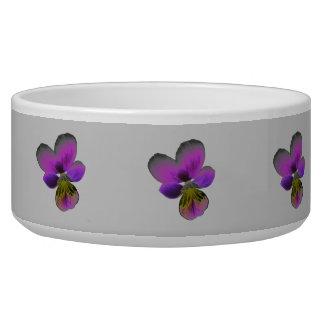 Pansy Wild Dark Purple Dog Bowl