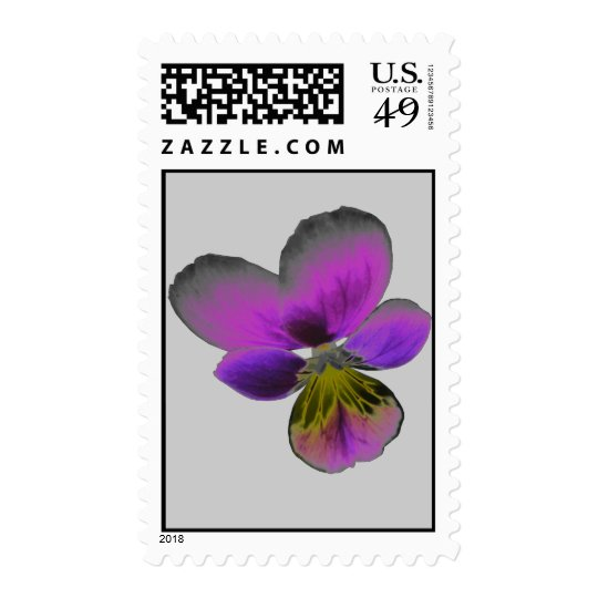 Pansy Wild Dark Purple Postage Stamp