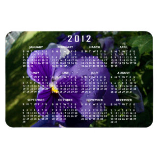 Pansy with Water Droplets; 2012 Calendar Magnet
