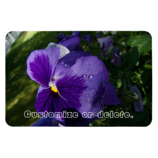 Pansy with Water Droplets; Customizable Magnet