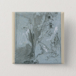 Pantalica, from 'Views of Sicily (chalk & gouache Pinback Button