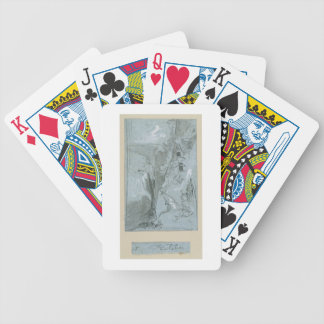 Pantalica, from 'Views of Sicily (chalk & gouache Bicycle Poker Cards