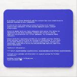 Pantalla azul de la muerte alfombrillas de ratones