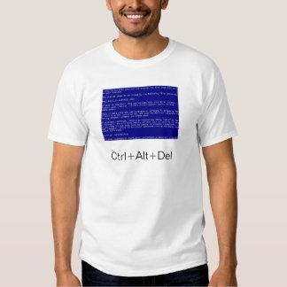 pantalla azul de la muerte camisas