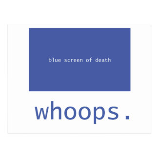 ¡Pantalla azul de la muerte - chillidos Postal