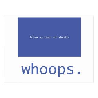 ¡Pantalla azul de la muerte - chillidos! Postal