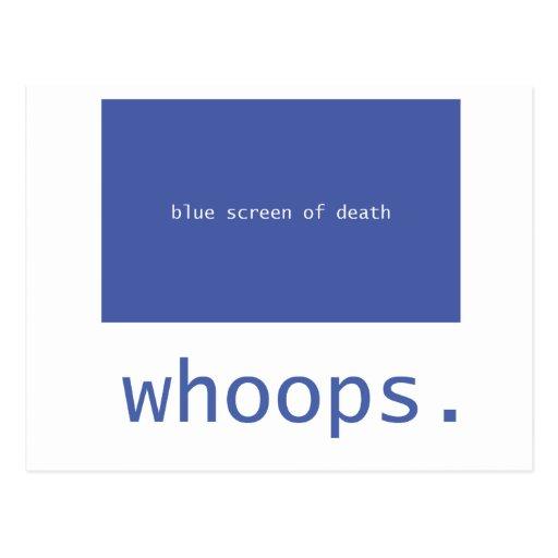 ¡Pantalla azul de la muerte - chillidos! Tarjetas Postales