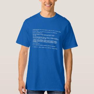 Pantalla azul de la muerte remeras