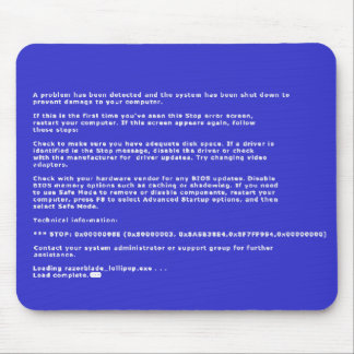 Pantalla azul de la muerte alfombrilla de raton