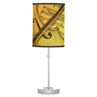 Pantalla de la música del violín lámpara de mesa
