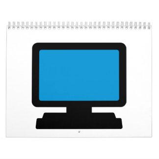 Pantalla de monitor calendarios de pared