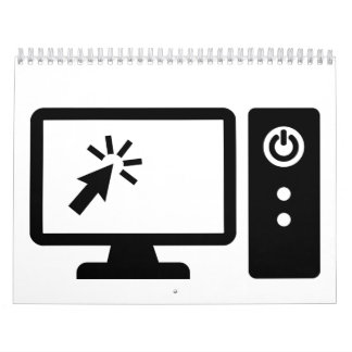 Pantalla de ordenador de escritorio calendarios de pared