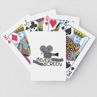Pantalla de plata cartas de juego